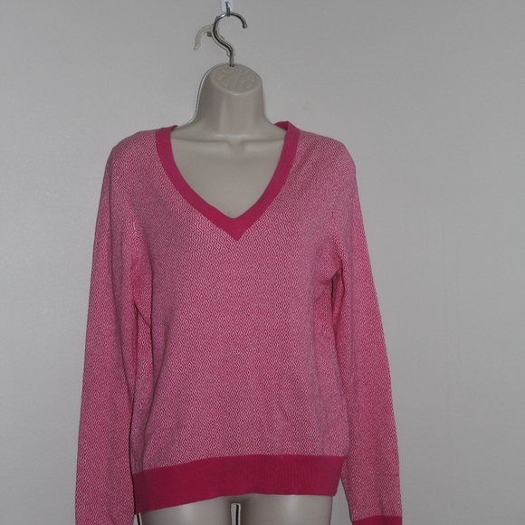 Lilly Pulitzer Sweaters Lily Pulitzer Womens Sz M V Neck Hot Pink